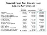 general fund net county cost general government