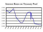 interest rates on treasury pool