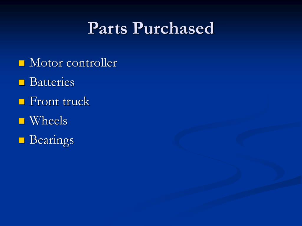 Parts Purchased