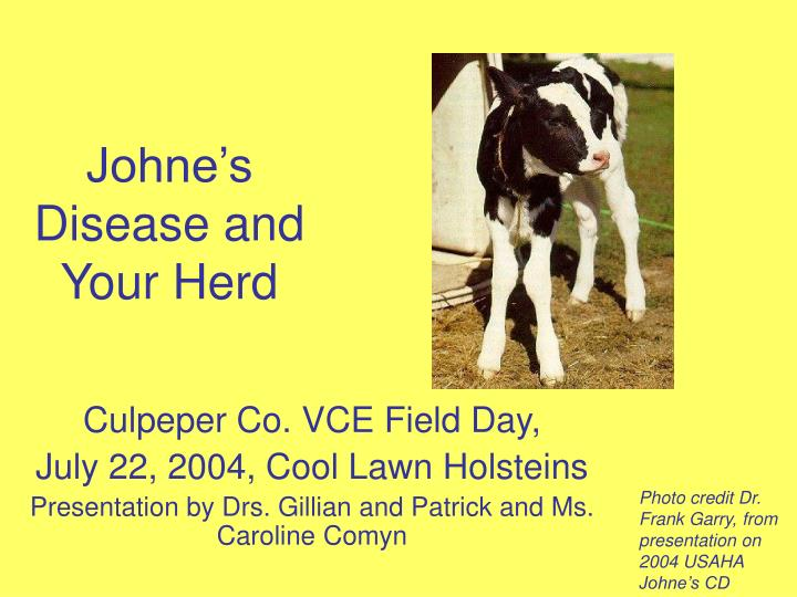 johne s disease and your herd n.