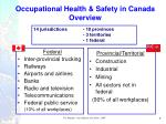 occupational health safety in canada overview
