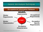 generic job analysis techniques
