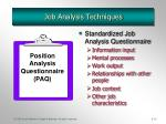 job analysis techniques1