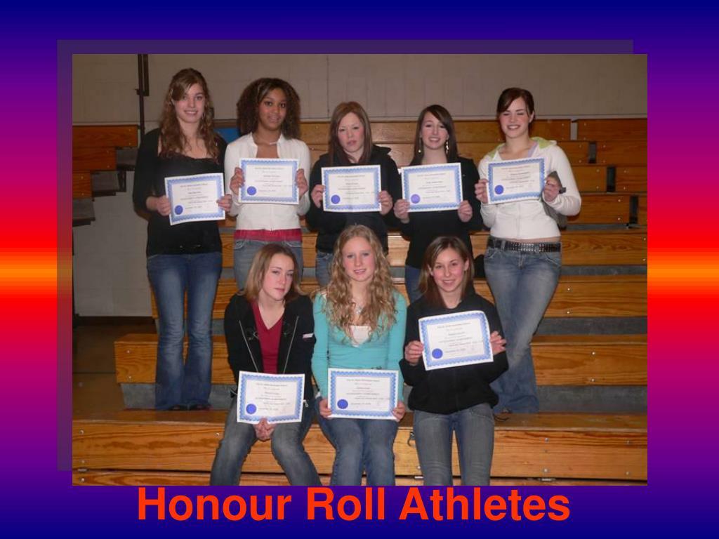 Honour Roll Athletes