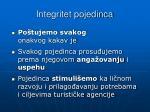integritet pojedinca