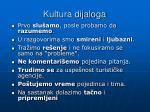 kultura dijaloga