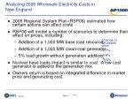 analyzing 2006 wholesale electricity costs in new england