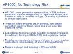 ap1000 no technology risk