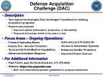 defense acquisition challenge dac