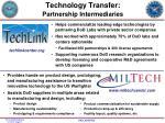technology transfer partnership intermediaries1