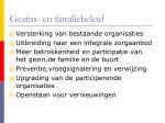 gezins en familiebeleid