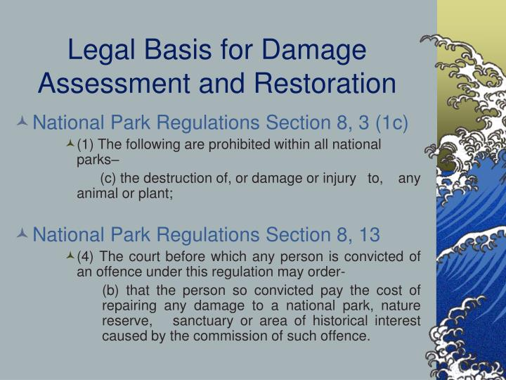 Legal Basis for Damage Assessment and Restoration