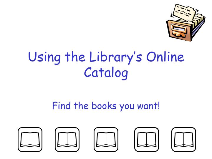 using the library s online catalog n.