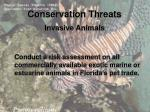 conservation threats