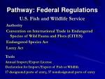pathway federal regulations