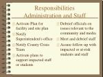 responsibilities administration and staff