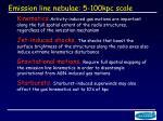 emission line nebulae 5 100kpc scale
