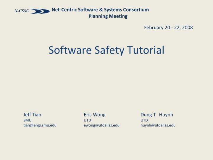 software safety tutorial n.