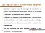les impacts sur le m tier d aide soignant1