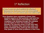 1 st reflection