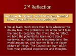 2 nd reflection