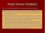 model answer feedback