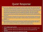 quest response17