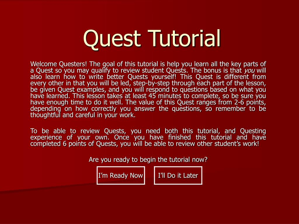 quest tutorial l.