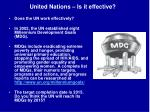 united nations is it effective