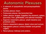 autonomic plexuses