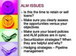 alm issues