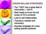 cross selling strategies