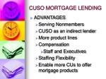 cuso mortgage lending