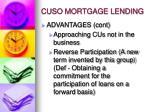 cuso mortgage lending1