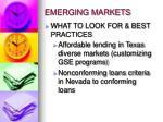 emerging markets1