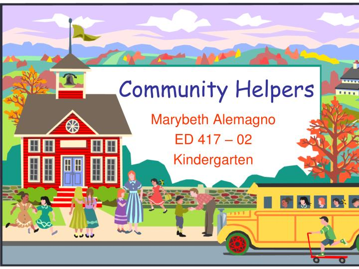 community helpers n.
