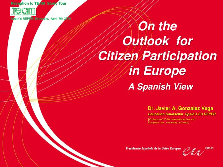 on the outlook for citizen participation in europe n.