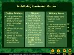 mobilizing the armed forces