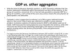gdp vs other aggregates