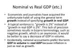 nominal vs real gdp etc