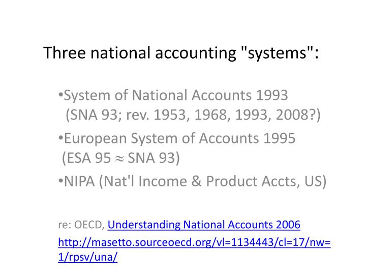 three national accounting systems n.