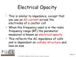 electrical opacity