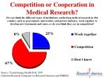 competition or cooperation in medical research