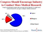 congress should encourage industry to conduct more medical research