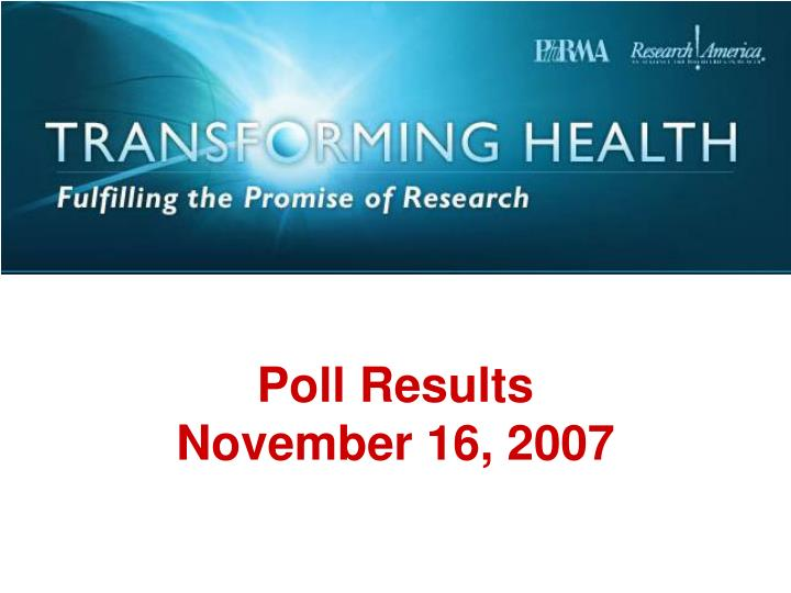 poll results november 16 2007 n.