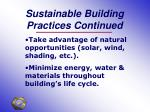 sustainable building practices continued