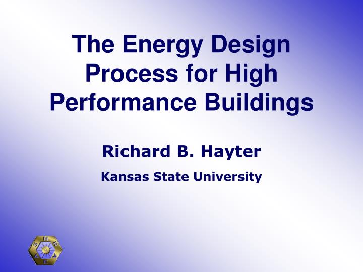 the energy design process for high performance buildings n.