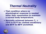 thermal neutrality