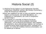 historia social 2