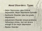 mood disorders types